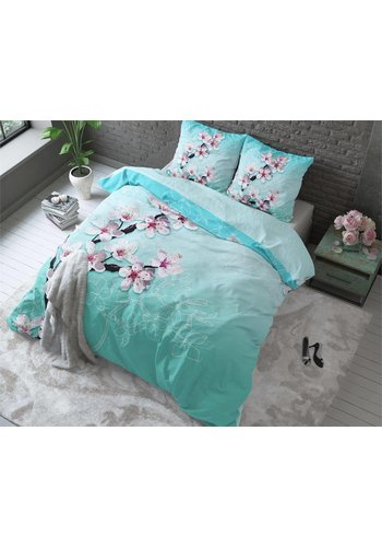Sleeptime Dekbedovertrek Cherry Blossom Turquoise