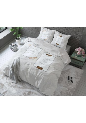 Sleeptime Housse couette  Angry Love Taupe