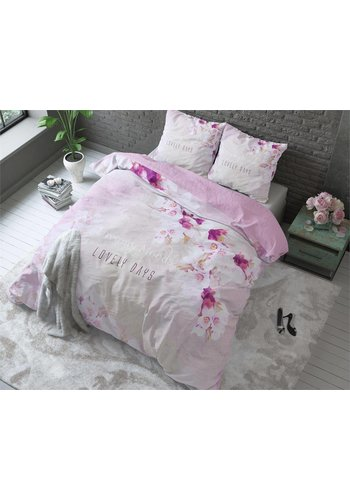 Sleeptime Dekbedovertrek Lovely Days roze