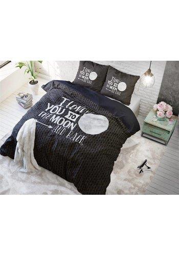 Sleeptime Dekbedovertrek Moon and Back Anthracite