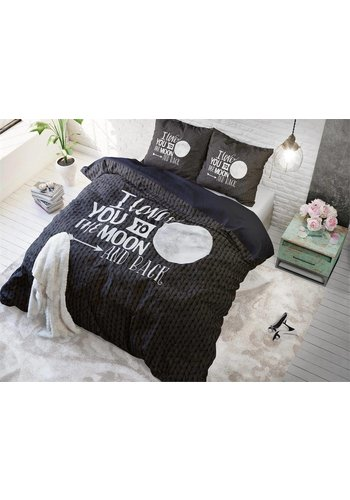 Sleeptime Housse couette Moon et Back Anthracite