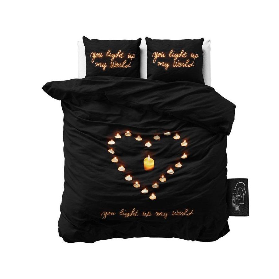 Dekbedovertrek Love Candles Black