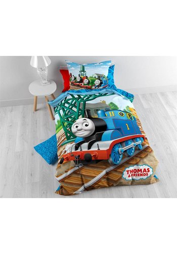Licentie Dekbedovertrek Tommy the Train Blue