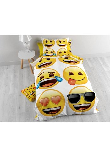 Licentie Housse couette Emoji Family Blanc