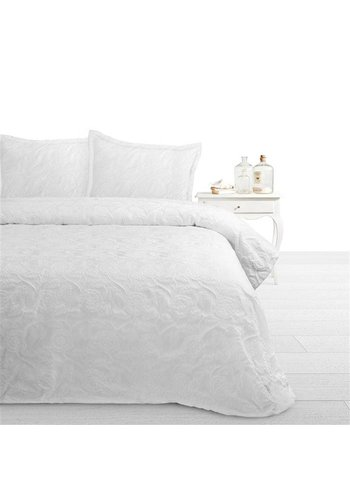 Fancy Embroidery Bedsprei SPR FCY Pure A White