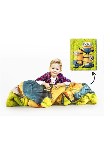 Universal Dekbed Printed Quilt Minions Huh ? Green