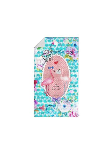 So Cute Badtextiel Handdoek Flamingo Multi