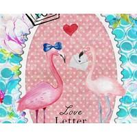 Badtextiel Serviette Flamingo Multicolore