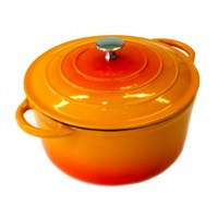 Neckermann Gietijzeren braadpan 18 cm oranje