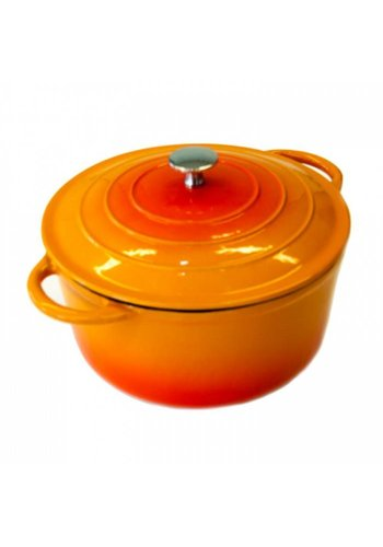 Neckermann Neckermann Gietijzeren braadpan 20 cm oranje