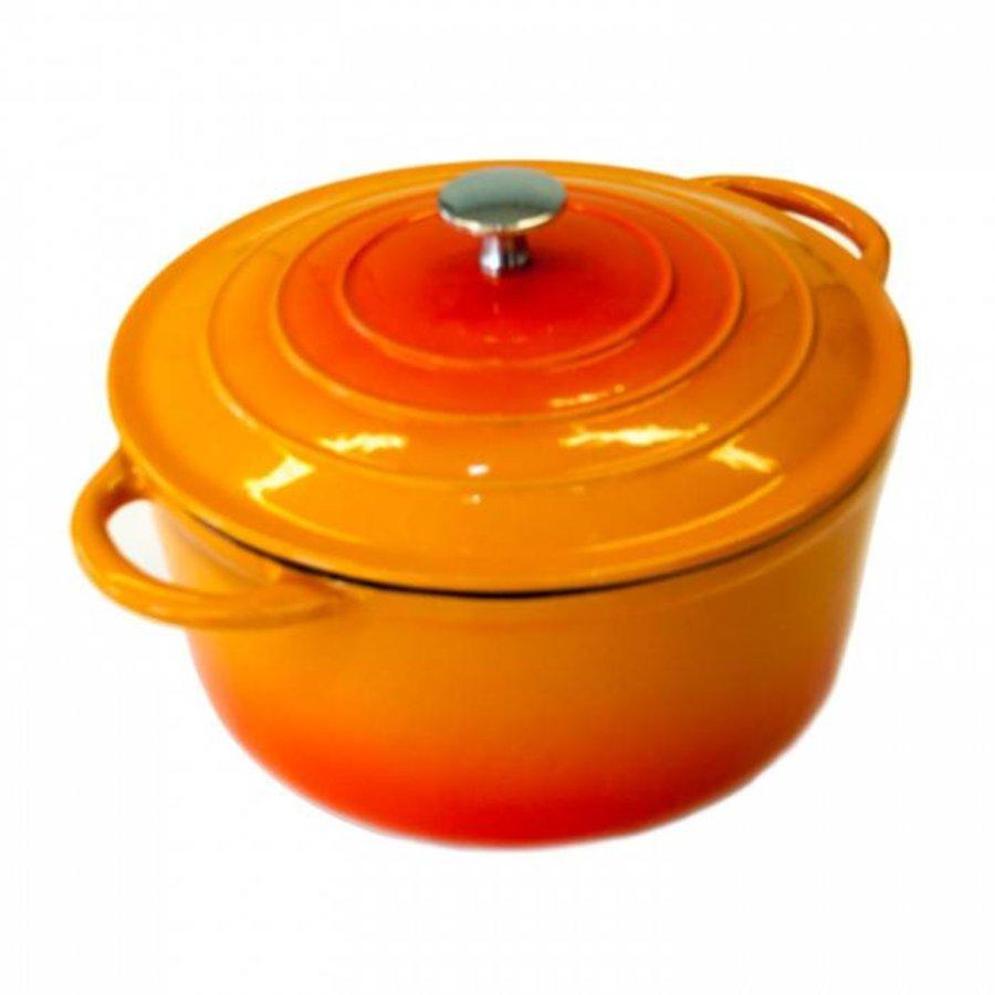 Neckermann Gietijzeren braadpan 28 cm oranje