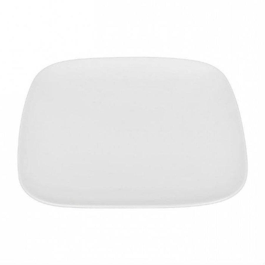 Neckermann 4x dinerborden vierkant 26,6 cm wit