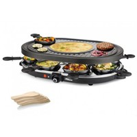 Princess Raclette 8 Oval Grill Party zwart