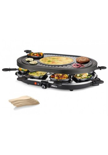 Princess Princess Raclette 8 Oval Grill Party zwart