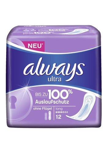 Always Always Ultra ServietteS  hygiéniques  longues 12 pièces