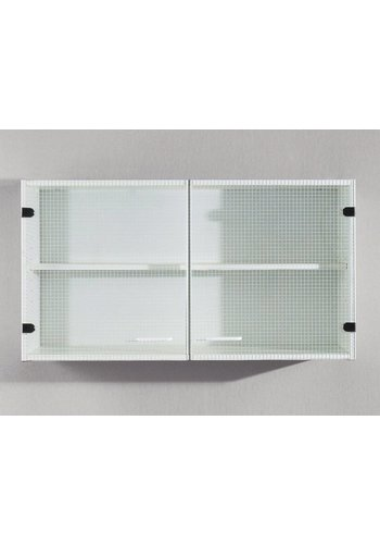 Maxmeubels Bovenkast Ringo 2 glasdeuren wit Wit,glas