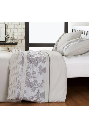 Fancy Embroidery Housse couette Gris