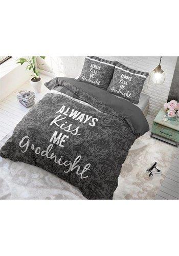 Sleeptime Dekbedovertrek ST Kiss your Love grijs