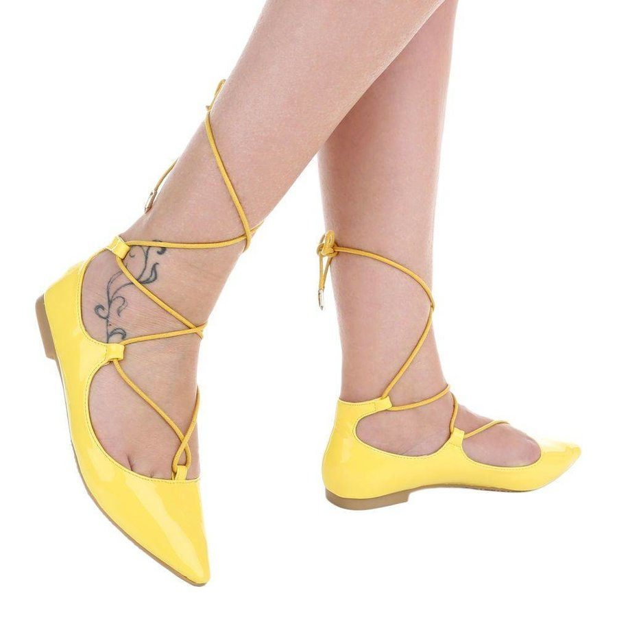 Dames ballerinas geel