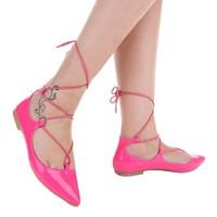 Dames ballerinas roze