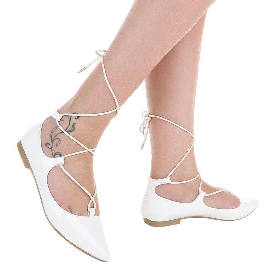 Dames ballerinas wit
