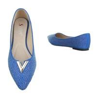 Dames ballerinas blauw