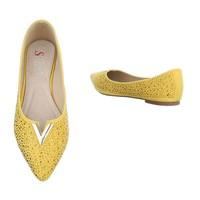 Damen ballerinas geel