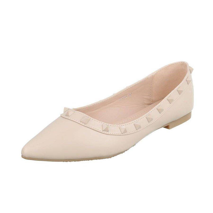 Dames ballerinas beige