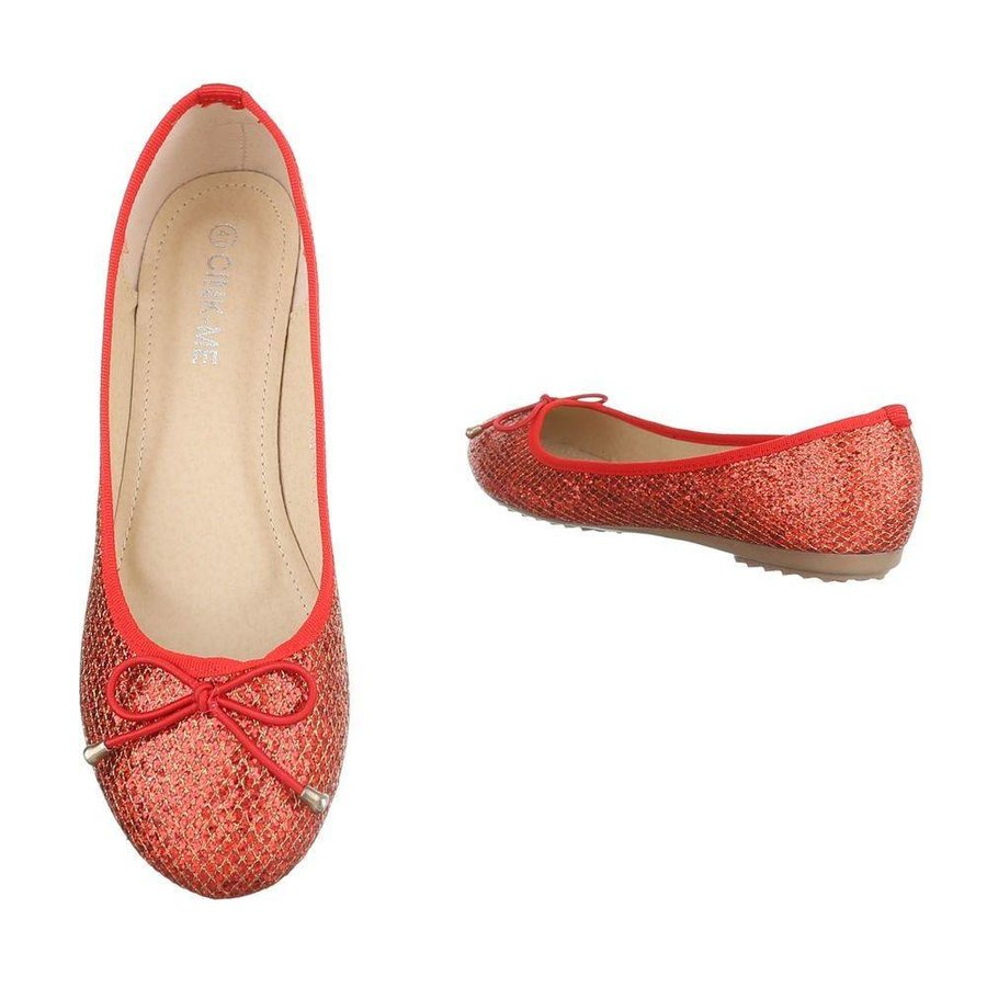 Dames ballerinas rood