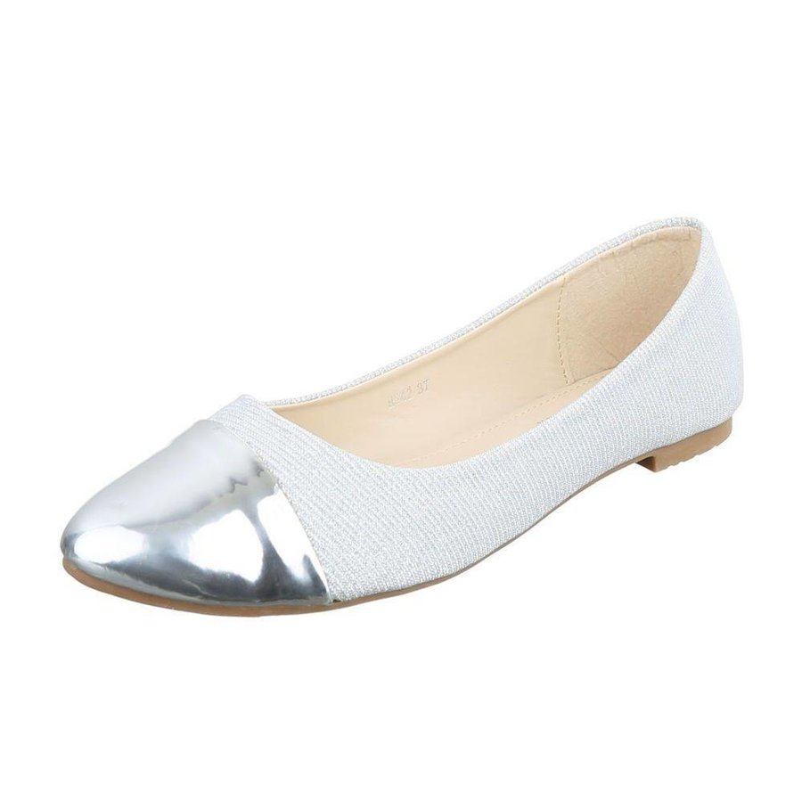 Damen ballerinas zilver