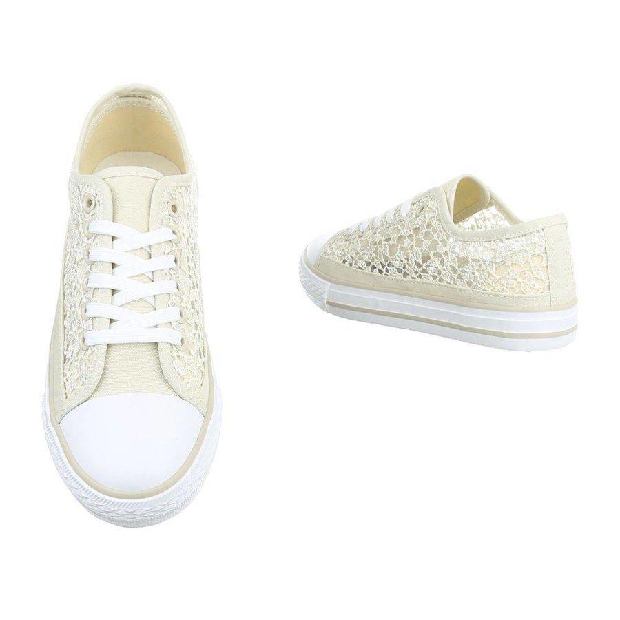 Dames sneakers beige