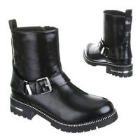 Dames boots zwart silver