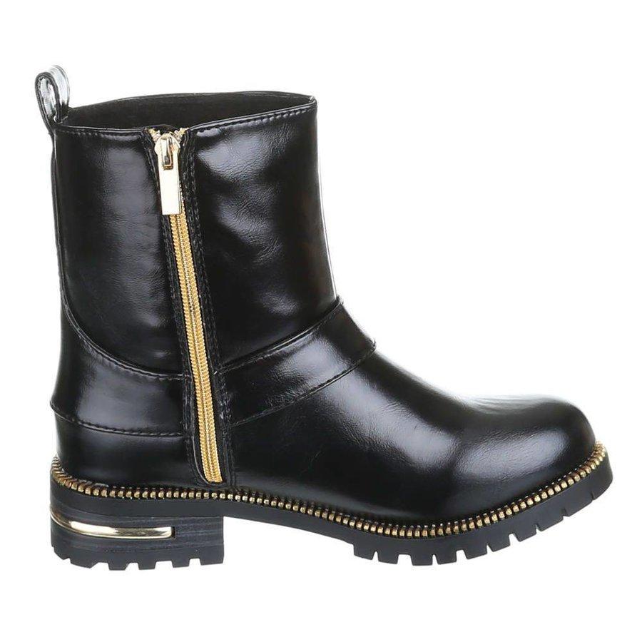 Dames boots zwart goud