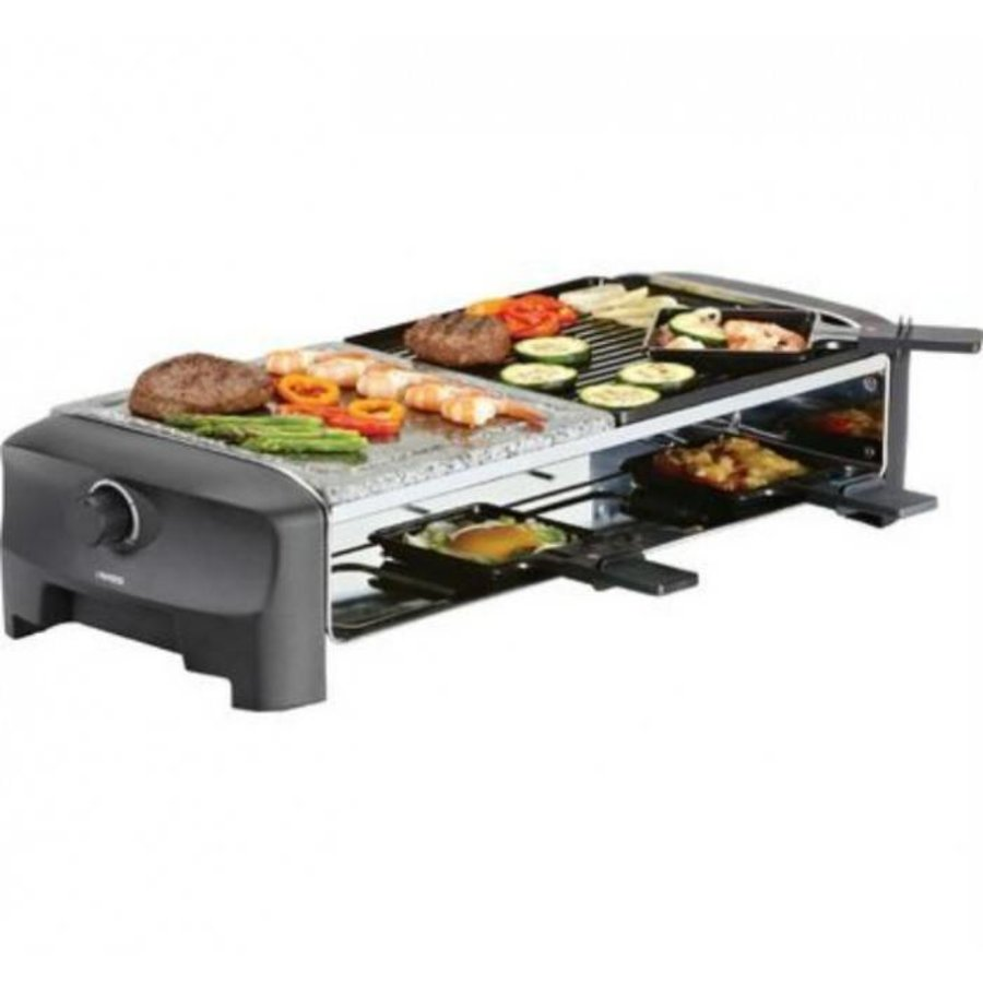 Princess Raclette 8 Stone & Grill Party zwart