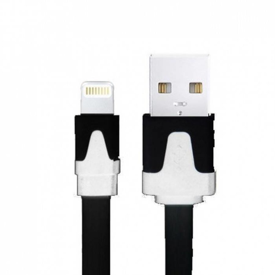 Neckermann Lightning naar USB kabel zwart 2 meter zwart