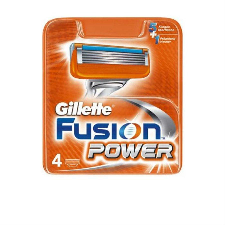 Gillette Fusion Power 4 stuks