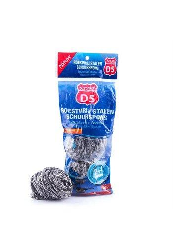 D5 X-treme D5 X-treme Éponge vaisselle en acier inoxydable- 3 pièces