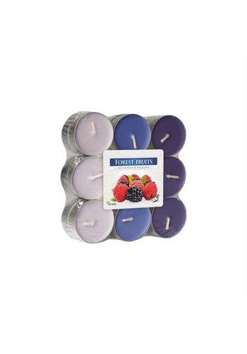 Bispol Bougies parfumées fruits des bois 18 pièces