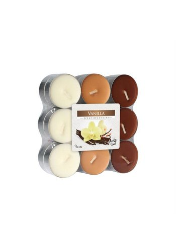 Bispol Bispol Bougies parfumées- vanille 18 pièces