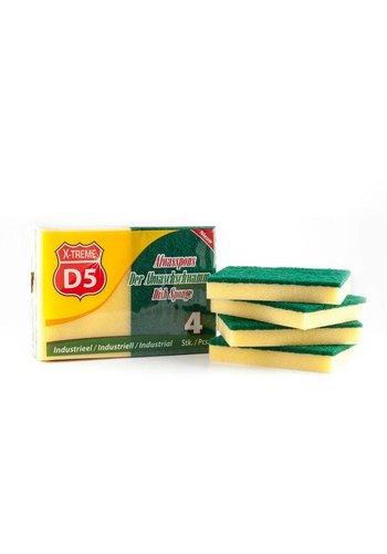 D5 X-treme Abrasive sponge XL 4 pieces