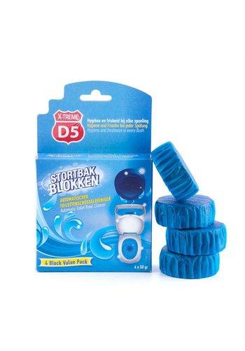 D5 X-treme Fraîcheur pour sache de toilette 4x50gr