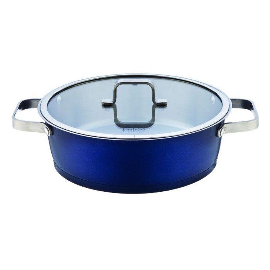 Falez Braadpan chroma RVS 26 cm blauw