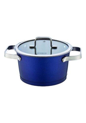 Falez Pan cuisinier Chroma en acier inoxydable-bleu