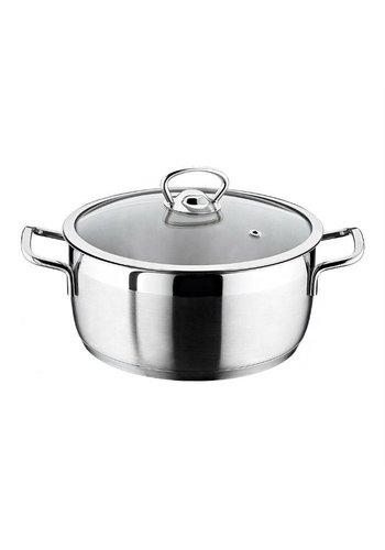 Falez Poêle à soupe 22 cm en acier inoxydable Senso 6,4 liter