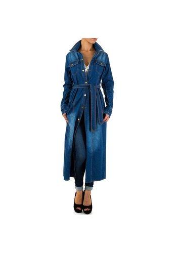 HF-Fashion Dames Mantel van Hf-Fashion Blauw denim
