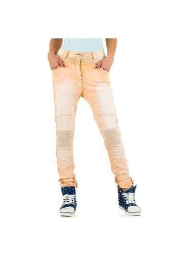 Dames Jeans  Mozzaar - apricot