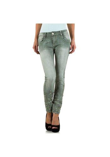 Dames Jeans  Mozzaar - green