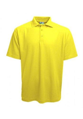 Gildan Polo korte mouw geel