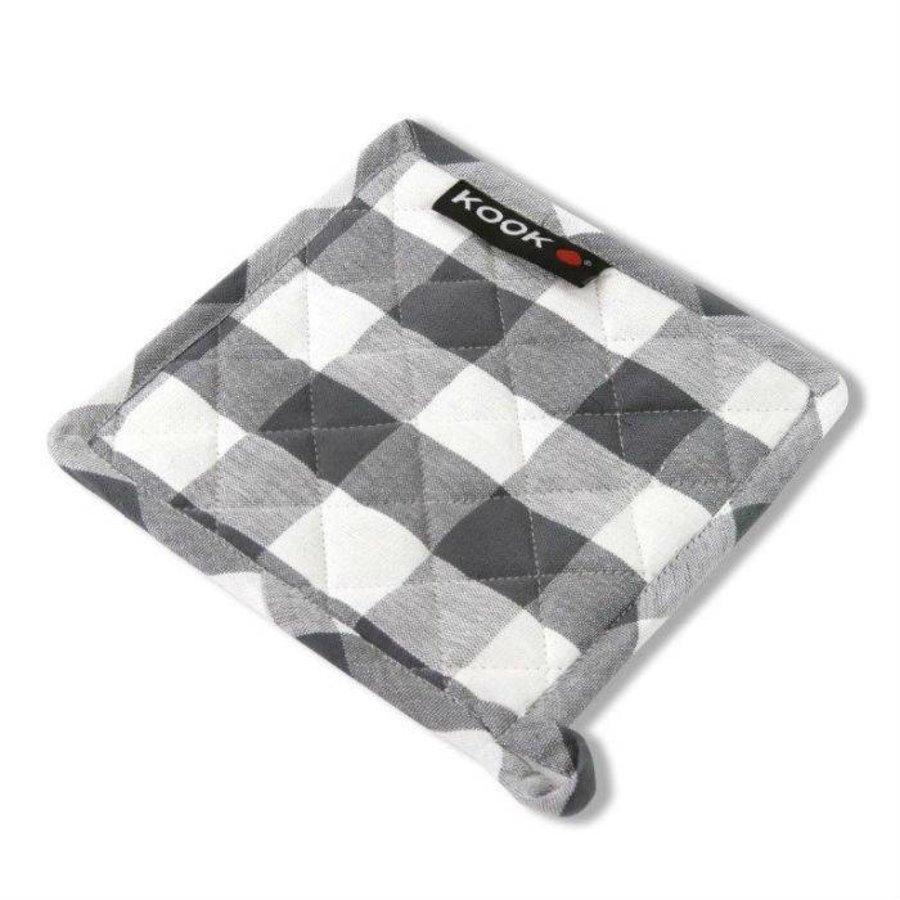 Kook Schwenk Runde Diamant grau / weiß