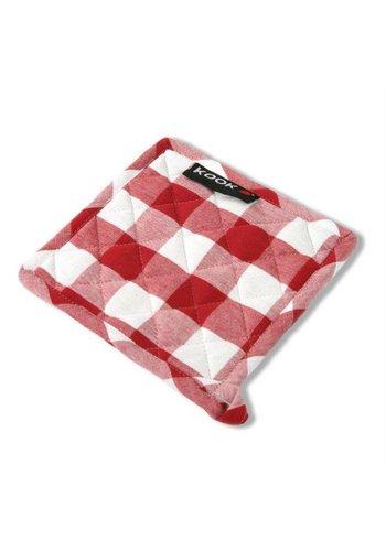 Kook Pannenlap ruit rood/wit